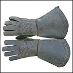 Leather Mail Gauntlet for Renaissance and Medieval events