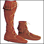 Suede Boots - Moccasin Comfort Medieval Look