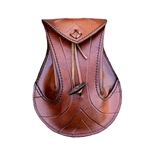 Elven Pouch - Brown Leather