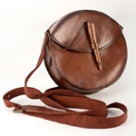 Round Leather Pouch