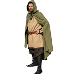 Medieval LARP Cloak - Green Cotton