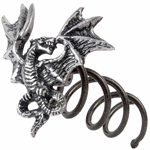 Smoke Dragon Hair Screw Pewter Alchemy HSC1