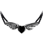 Coeur Noir Necklace Pewter Alchemy P410