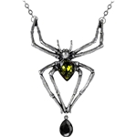 Emerald Venom Necklace Pewter Alchemy P432