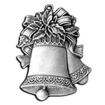 Pewter Christmas Bells Ornament 119.0114