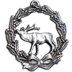 Christmas Wreath With Elk Ornament 119.0340