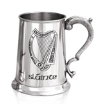 Harp Slainte One Pint Pewter Tankard