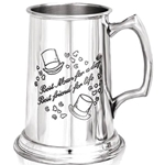 Heavy Gauge Best Man One Pint Pewter Tankard