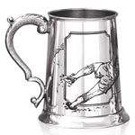 Football One Pint Pewter Tankard
