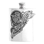 Celtic Pewter Hip Flask 6 Ounce CEL491