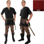 Medieval Tunic, Red, Extra Extra Large