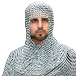 Butted Steel Chainmail Coif 300188