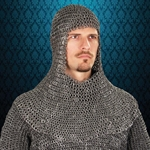 Mail Armor Coif, Riveted Darkened Aluminum 300478