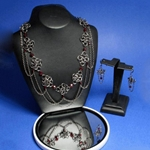 Isabow Chainmail Necklace and Earring set 37-4097