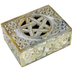Pentagram Soapstone Box 45-FB18M