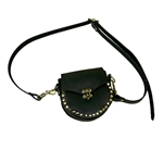 Small Leather Belt Pouch with Shoulder Strap