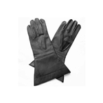 Leather Riding Gauntlets Black 58-5009