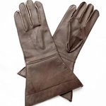Leather Riding Gauntlets Brown 58-5009