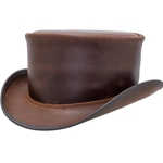 Marlow Top Hat Unbanded - Brown