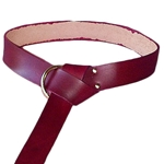 Leather Medieval Squire's Belt for SCA in Red