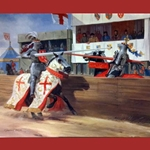 Jousting Medieval Greeting Cards C5