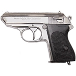 Replica Walther Officers Police Pistol Nickel Non Firing,Walther Officers Police Pistol Nickel Non Firing FD1277NQ