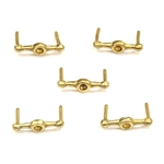 Brass Bar Belt Studs - Set of 5