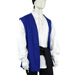 Blue Pirate Vest - Cotton Canvas