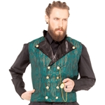 Plus Size Double Breasted Brocade Waistcoat