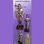 Miniature Castle Armour 14""