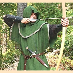 Huntingdon Green Over Tunic with Hood 100986