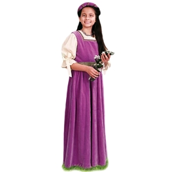 Girls Maiden Dress with Matching Burlet Circlet