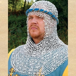 Riveted Aluminum Chainmail Armor Coif