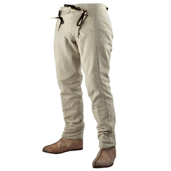 15th Century Pants, Natural, Extra Large Medieval Hosen