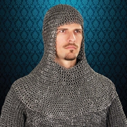 Mail Armor Coif, Riveted Darkened Aluminum