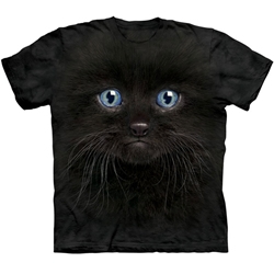 Black Kitten Face Adult 2X-Large T-Shirt 43-1035030
