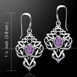 Celtic Knotwork Silver Earrings 52-TE593