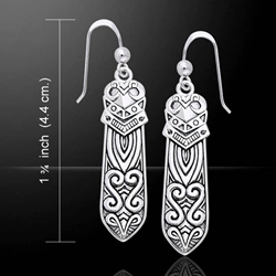 Celtic Maori Silver Earrings 52-TER521