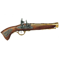 18th Century Austrian Antique Brass Blunderbuss - Non-Firing Replica